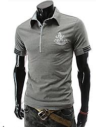 Amazon vend la couleur de la personnalité col de la conception de tous les casual match-polo masculin