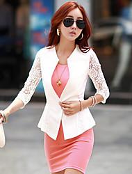 Women's Casual Work Thin Short Sleeve Regular Blazer (Chiffon)