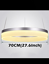 Round LED Pendant Light Modern Acrylic Lamps Lighting Luxurious Single Ring D70CM Ceiling Lights Fixtures