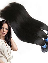 """3pcs / lot recta brasileña extensión de tejido humano natural del pelo virginal del pelo para su pelo agradable 8 """"-34 ''"""