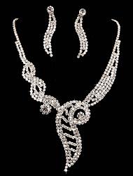 Ladies' Rhinestone Wedding Jewelry Set