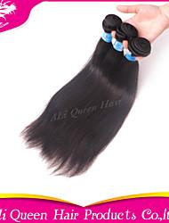 Ali Queen Hair products 6A Peruvian Virgin Hair Staight Natural Black Hair 3pcs/Lot 100% human hair extensions