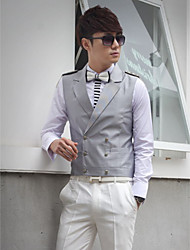 Gray Cotton Tailorde Fit Vest