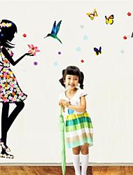 stickers muraux stickers muraux, la couleur papillon rêve princesse pvc stickers muraux