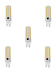 10W G9 Lâmpadas Espiga T 152 SMD 3014 1000 lm Branco Quente / Branco Frio Regulável AC 220-240 V 5 pçs