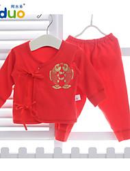 Ajiduo Babies Fish Printed Pure Cotton Clothing Set Newborn Infant Underwear