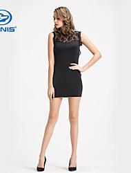 canis @ sexy sem mangas bodycon cocktail mini vestido curto novas senhoras