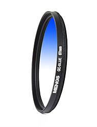 MENGS® 67mm Graduated BLUE Filter For Canon Nikon Sony Fuji Pentax Olympus Etc Digital And DSLR Camera