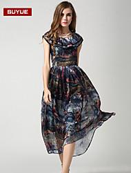 vestido maxi de la gasa suyue® nuevas mujeres de la manera de la vendimia de la manera delgada clásica