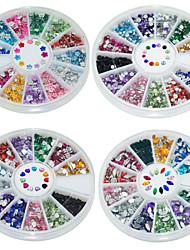 4Pcs Four Types of Mixed Manicure Diamond Shining Nail Art  Decoration kits