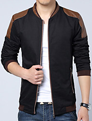 VT Large Size Leisure PU Stitching Trend of Cultivate One's Morality Men's Jacket