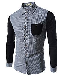 Jacc Men's Long Sleeve Casual Shirts (Cotton)