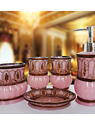 The Morocco Pattern Bathroom Ware 5 Sets/Pink