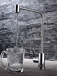 HPB Contemporary Potable Water Chrome Finish Brass One Hole Single Handle Kitchen Faucet