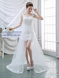 A-line Wedding Dress Two-In-One Wedding Dresses Sweep / Brush Train Sweetheart Lace with