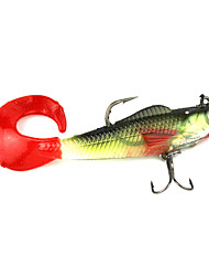 Leurre souple Hameçon leurres de pêche Pêche-1 pcs Rouge Violet Métal Silicone-N/APêche en mer Pêche d'appât Pêche d'eau douce Pêche