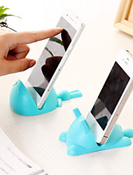 Universal Cat Shaped Silicone Cellphone Phone Mount Stand Mobile Holder (Random Color)