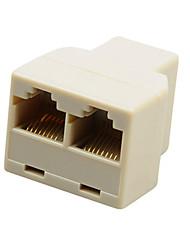RJ45 Splitter Connector Adapter (2-Pack)