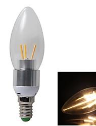 6pcs 3w e14 3xc0b 350lm 3000k warm witte kleur licht LED kaars lamp (AC85-265V)