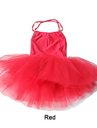 Nylon/Lycra Halter Dance Leotards with Tutu Skirts More Colors for Ladies and Girls