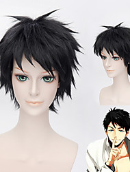 Free!SosukeYamazaki black Short Synthetic Fiber Hair cosplay wig