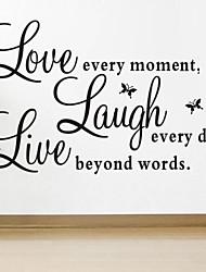 parede adesivos de parede decalques, estilo de amor ao vivo os provérbios borboleta em pvc adesivos de parede