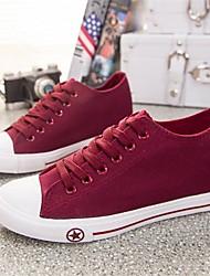 Scarpe Donna - Sneakers alla moda - Casual - Punta arrotondata - Piatto - Di corda - Nero / Blu / Bianco / Borgogna