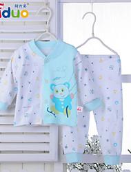 Ajiduo Newborn Baby Boy Girl Unisex Pure Cotton Tops Pants Cute 2 pcs Clothing Sets