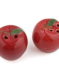 Fashion Wedding Gifts Red Apple Pattern Cruet Wedding Favors Decorations