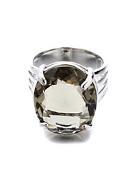 Beautiful Brass One CZ  Ladies New  Ring(More Colors)