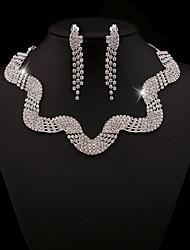 FanXi    Fashion Bride Necklace  Earrings