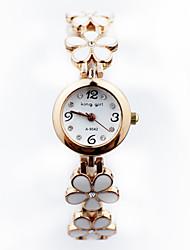 cinco folhas em forma de coração de diamante pulseira de relógio para as mulheres