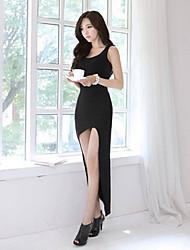 Robes ( Coton mélangé ) Sexy/Informel Courroies à Sans manche pour Femme