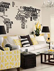 pared calcomanías pegatinas, cartas de estilo mapa de pvc mundo pegatinas de pared