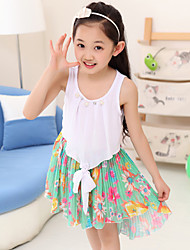 Girl's Chiffon Floral  Party Birthday Pageant Princess Children Clothes Dresses
