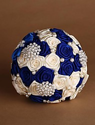 Blue and Beige Color Wedding Bouquet