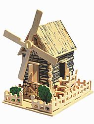 сельское ветер древесины трехмерной головоломки