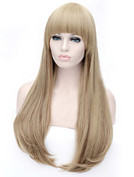 The New Cartoon Color Wig Linen Color Pick Color Buckle in Long Straight Hair Wigs