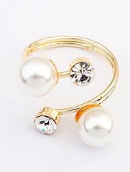 Women's European Style Elegant Fashion Pearl Ring