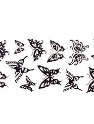 Tatuaggi adesivi - Altro Da donna/Da uomo/Adulto/Teen - 1 - Modello - di Carta - 24*10CM - Nero - Fascia lombare