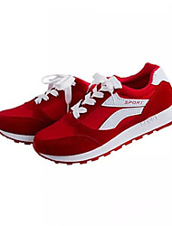 Sneakers de diseño ( Negro/Rojo Comfort/Dedo redondo - Plataforma - Tejido - para MUJERES