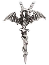 u7 novo hobbit legal do dragão Smaug colar de pingente de aço inoxidável 316L jóias vintage unisex de alta qualidade nunca desaparecer