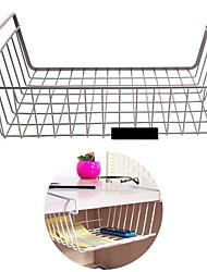 Hanging Basket Shelf Storage Rack Refrigerator Wardrobe Desktop Cabinets Desk Rack