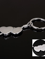 Personalized Gift  Keychain Stainless Steel Lovers