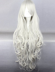 Fashion Cartoon Long Curly White Hair Wigs