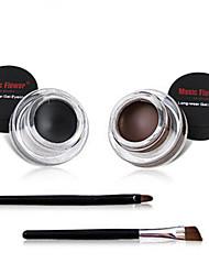 2pcs 24 ore impermeabile non macchia nera&caffè eyeliner set crema per le ragazze