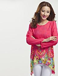Deewo Women's Vintage Floral Print T-Shirt