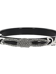 Bracelet Bracelet Rond Argenté/Agate Onyx Femme