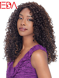 "18""Inch Brazilian Virgin Hair Color(Black) Deep Curly Lace Front Wigs"