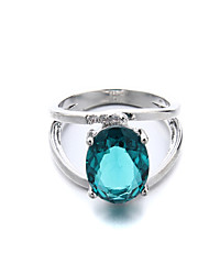 Brass Fashion Beautiful CZ Ladies Ring(More Colors)